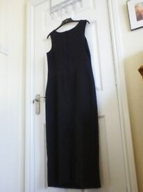 Womans long sleeveless dress ,size 16