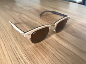 Rayban Clubmaster Sunglasses Wood Style RRP £170