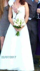 Mori lee ivory wedding dress size 8-12 beautiful