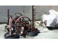 2 vintage horse mower £75 each 1 vintage potatoes digger £150