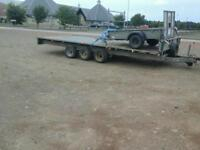Ifor williams tri aixl trailer 18x7.6 no vat