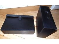 A4 Expanding File Case in Black x 2