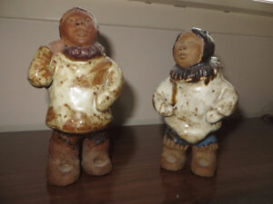 Inuit Couple in Ceramics