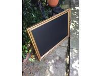 Large gold chalkboard wedding seat plan vintage chalkboard blackboard