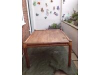 Large bamboo table . Special import. Ideal garden or conservatory.