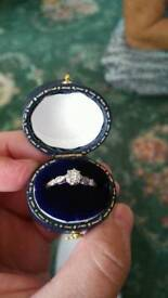 18ct Gold Platinum Art Deco Diamond Ring