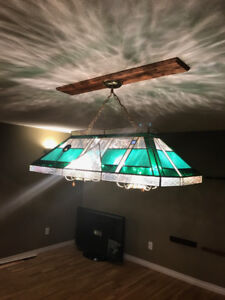 Tiffany Style Pool Table Ceiling Light (w/ accessories)