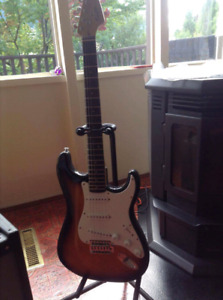 Selling my squire guitar and fender amp.