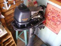 YAMAHA 5 H.P. 2 STROKE BOAT ENGINE
