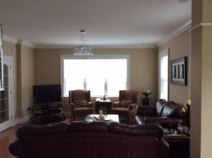 2 leather sofas/2arm chairs incl. tables $2800.call 902-880-7725