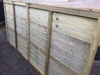 x1 Fence panel & x2 posts