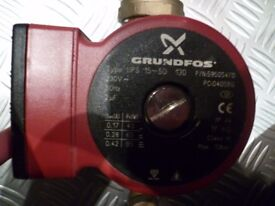 Grundfos UPS 15 - 50 / 130 Domestic (red body) Circulator Pump with gate valves