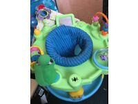 Playpen with 3 level height adjustments. Very good condition with lots of interactive toys on it