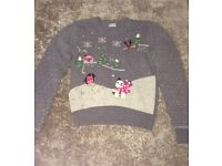 Teen 15-16 yrs Christmas jumper from Next in Grey
