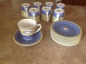 Set of 8 Cups & Saucers