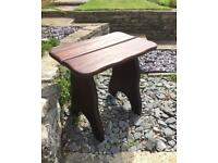 Vintage west African solid iroko wood BRANSON hand made stools x 4