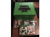 XBOX ONE with Kinect 2 wireless controllers and games