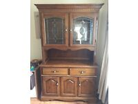 Oak dresser and matching tv cabinet