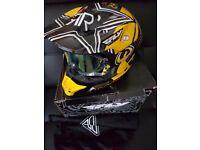 FLY AIR ROCKSTAR MX HELMET & GOGGLES - MOTORCYCLE LID VGC
