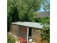 Useful large insulated sheds outbuildings to let with power/lights