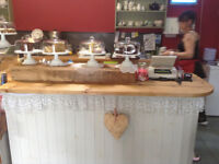 Hand made solid wood counter