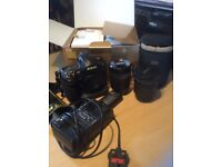 Nikon D3 DSLR with 2 lenses, charger, spare battery