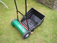 "Hand powered lawn mower, 15"" cutter, for the perfectionist,"