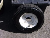 "Trailer Wheel 8"" Complete with tyre Weymouth Free Delivery"