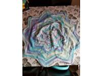 Crocheted Baby Star Blanket