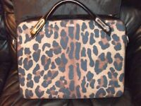 Abbi designer girls laptop case with leopard print