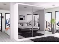 ★★BEST QUALITY GUARANTEED★★BRAND NEW FULL MIRROR BERLIN SLIDING DOORS WARDROBE IN DIFFERENT SIZES