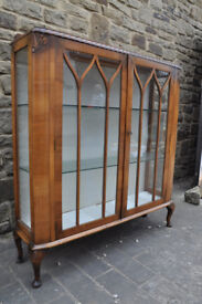 vintage 1930s china cabinet shabby chic