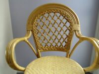 Cane chair suitable for a conservatory