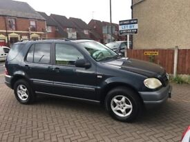 LHD - LEFT HAND DRIVE - DECEMBER 2000 MERCEDES ML320 - PETROL - WITH CERTIFICATE OF CONFORMITY