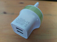UK Wall Plug Dual USB Charger