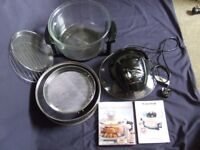 Halogen cooker 17 litre with extender ring and recipe books