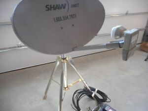 Shaw Satellite Dish with Tripod stand, signal finder & receivers