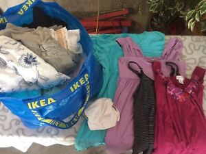 Large IKEA bag full of maternity clothes