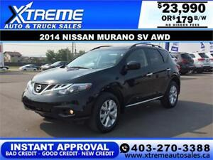 2014 NISSAN MURANO SV AWD $179 Bi-Weekly APPLY NOW DRIVE NOW
