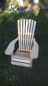 2 wood kids chairs