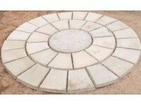 Compass paving rotunda 6ft (1.8m) wide