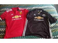 Two man united 2017/2018 home&away tops