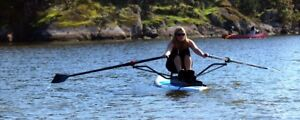 Paddle board rowing attachment