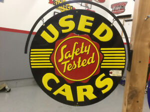 Double sided Garage sign