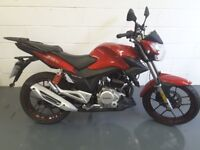 LEXMOTO ZSX 125 IN RED - BARGAIN EX-DEMO. ONLY DONE 1 MILE !!