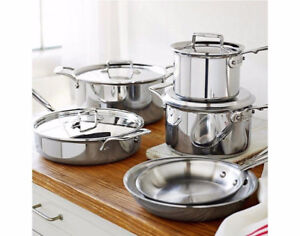 ALL CLAD D5 POLISHED saute pan and skillets