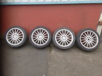 "17"" TEAM DYNAMICS MULTI FIT ALLOYS AND TYRES 4 x 108 4 x 100 FORD VAUXHALL RENAULT"