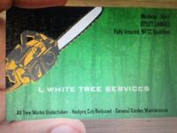 L White Tree Services.