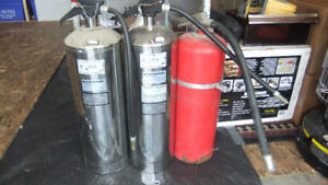 3 industrial type fire extinguishers