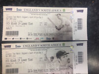 2 tickets England v South Africa CRICKET